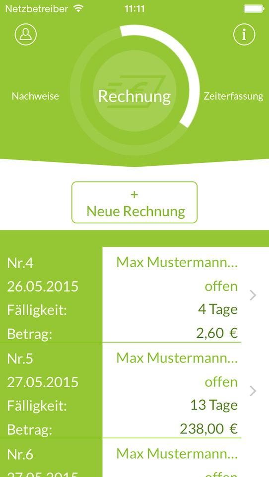 iPhone5 - Alle Rechnungen
